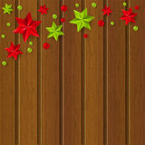 Christmas decorations on dark wooden background Stock Photography