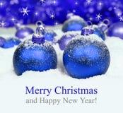 Christmas decorations on defocused lights background. Stock Photo
