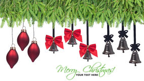 Christmas decorations design elements Stock Image