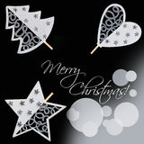Christmas decorations design elements Stock Photos