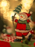 Christmas decorations. Detail Christmas ornaments on a tree royalty free stock photography