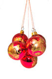 Christmas decorations in different colors Royalty Free Stock Images