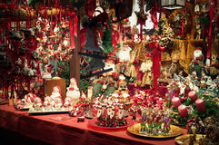 Christmas Decorations. Christmas decorations diplayed for sale  at a Christmas Market Royalty Free Stock Image