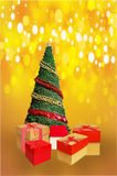 Christmas decorations display Royalty Free Stock Images