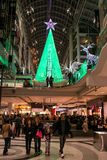 Christmas Decorations at Eaton Centre in Toronto Stock Photography