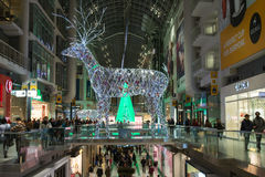 Christmas Decorations at Eaton Centre in Toronto Royalty Free Stock Images