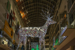 Christmas Decorations at Eaton Centre in Toronto Royalty Free Stock Image