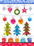 Christmas decorations elements Stock Photos