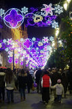 Christmas decorations in the evening 6 Royalty Free Stock Photography