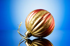Christmas decorations in festive Royalty Free Stock Photo