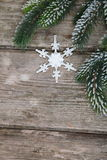 Christmas decorations and fir branches Stock Images