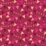 Christmas Decorations Flags Seamless Pattern Stock Photo