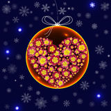 Christmas decorations in the form of a glass ball with a floral Stock Image