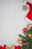 Christmas decorations frame Stock Photos