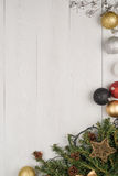 Christmas decorations frame Royalty Free Stock Image
