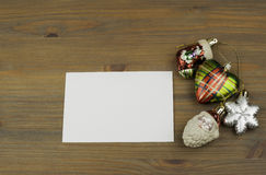 Christmas decorations with free space for text Royalty Free Stock Images