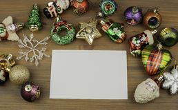 Christmas decorations with free space for text Stock Photo