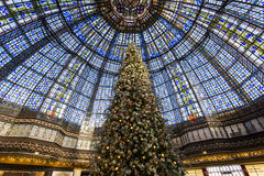 Christmas decorations at Galeries Lafayette store, Paris, France Royalty Free Stock Photography