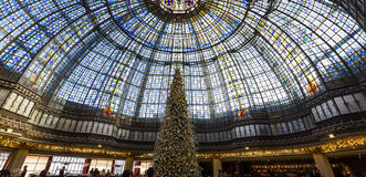 Christmas decorations at Galeries Lafayette store, Paris, France Stock Photo