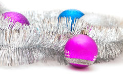 Christmas decorations and garland Stock Photography