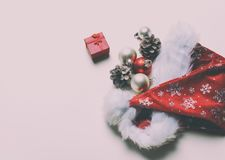 Christmas decorations and gift Royalty Free Stock Photos