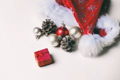 Christmas decorations and gift Royalty Free Stock Photography