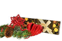 Christmas decorations and gift Royalty Free Stock Images