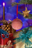 Christmas Decorations and Gifts Royalty Free Stock Photos