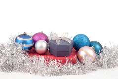 Christmas decorations and gifts Royalty Free Stock Image