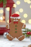 Christmas Decorations with Gingerbread cookie man Royalty Free Stock Photography