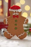 Christmas Decorations with Gingerbread cookie man Royalty Free Stock Image