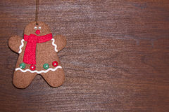 Christmas decorations with Gingerbread man Stock Photography