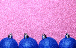 Christmas decorations on a glitter background Royalty Free Stock Photos