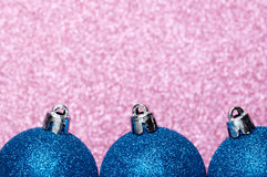 Christmas decorations on a glitter background Stock Images