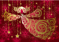 Christmas decorations. Gold angel. Royalty Free Stock Image