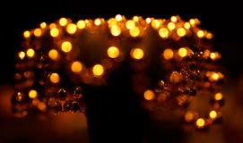 Christmas decorations 4. Golden pearls beautiful shiny in the  winter season Royalty Free Stock Photos