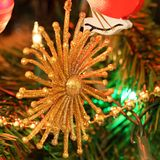 Christmas decorations - Golden star Stock Photography