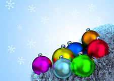 Christmas decorations. On gradient background stock illustration