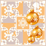 Christmas decorations on a gray background Royalty Free Stock Images