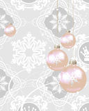 Christmas decorations on a gray background Royalty Free Stock Photos