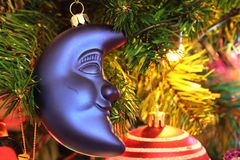 Christmas decorations - Half moon Royalty Free Stock Images