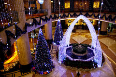 Christmas decorations in the hall Royalty Free Stock Photography