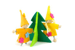 Christmas decorations handmade Stock Images