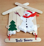 Christmas decorations handmade Stock Photos