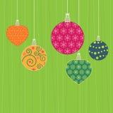 christmas decorations hanging Стоковое фото RF