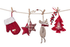 Christmas decorations hanging Royalty Free Stock Images