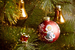 Christmas decorations hanging Stock Photography
