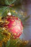 Christmas decorations hanging Stock Photo