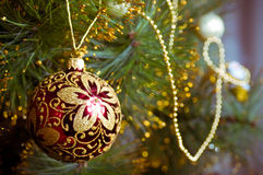 Christmas decorations hanging Royalty Free Stock Image