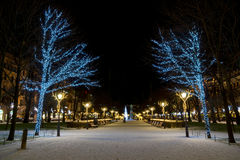 Christmas decorations in Helsinki Stock Photography
